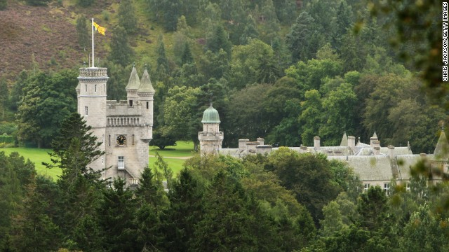 Balmoral, the Queen's Scottish residence, is getting used as a public rest room