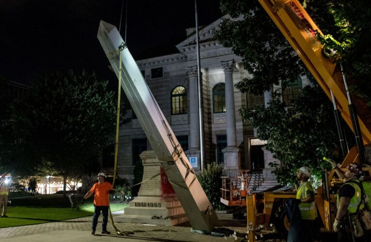 Confederate monument taken down in Georgia amid cheers | US News