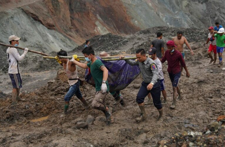 Video Shows Myanmar Jade Mine Collapse