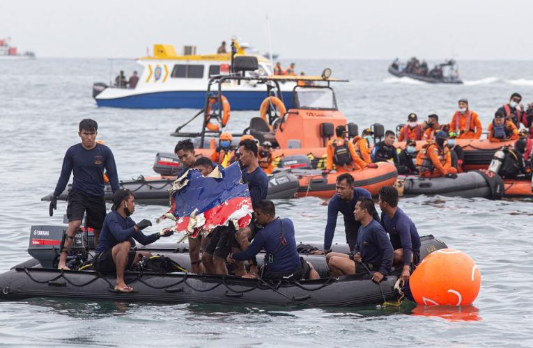 Human stays pulled from the Indonesian Sriwijaya Air crash website