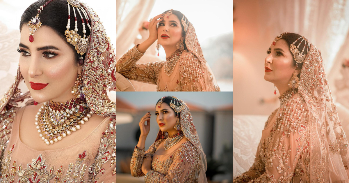 Areeba Habib Looks Ravishing In Her Latest Bridal Shoot | Reviewit.pk