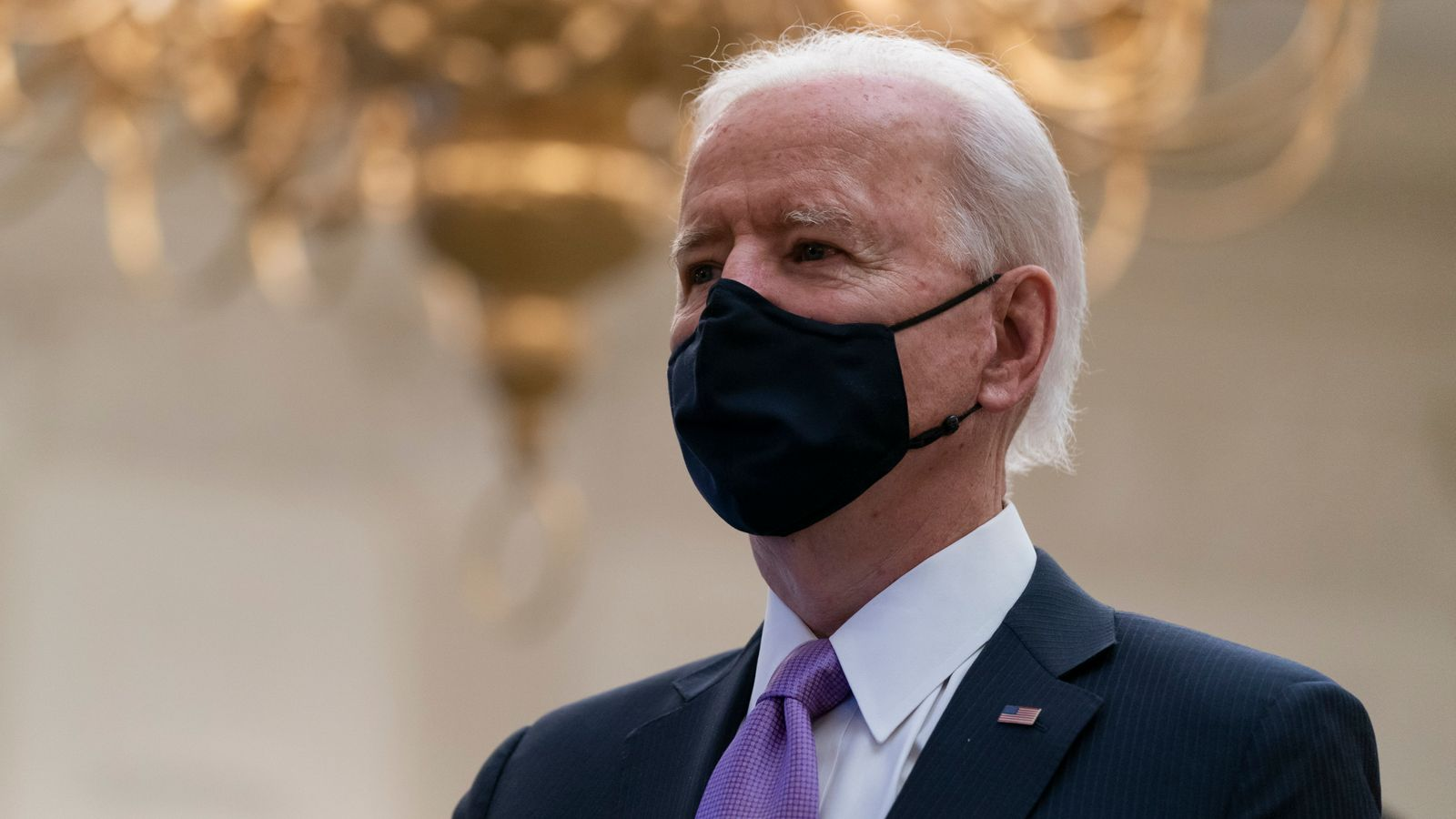 Biden says vaccine rollout has been a 'dismal failure' and urges Americans to wear a mask for 99 days