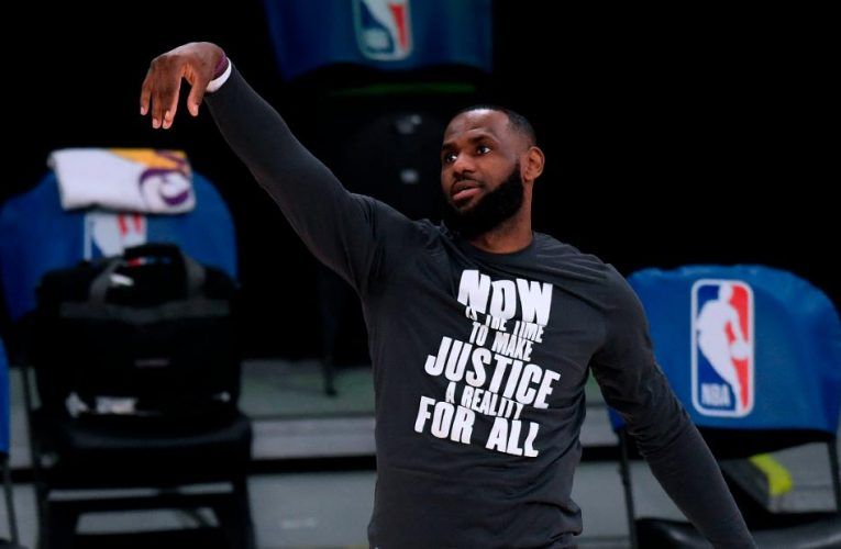 LeBron James says 'it could be nice' for LA Lakers to go to the White House