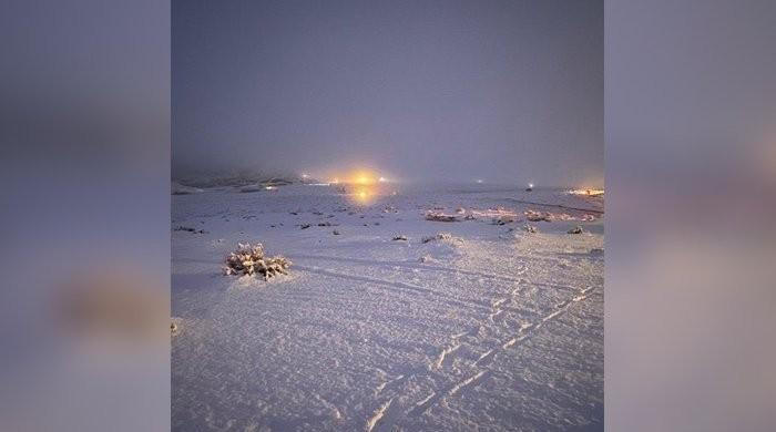 Snowfall in Saudi Arabia's Asir area leaves mountains, deserts coated with white snow sheet