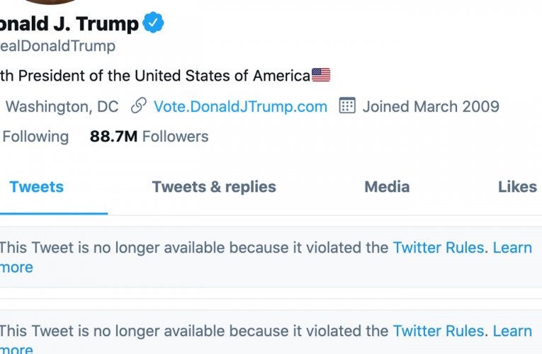 Trump deletes posts 'inciting violence' after menace of everlasting Twitter ban | Science & Tech News