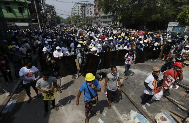 'At least four killed' as police open fire on Myanmar protesters