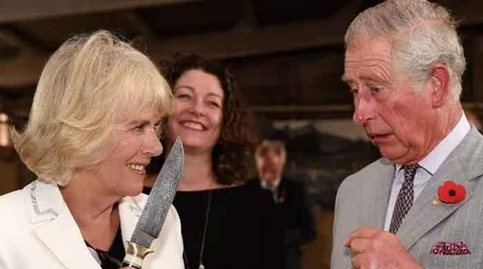 Camilla Parker holds up knife to her husband Prince Charles: Photo breaks the internet