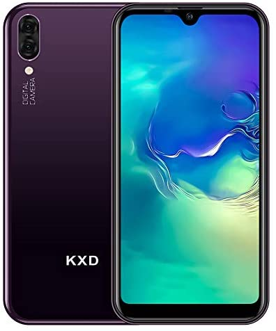 Mobile Phone KXD A1, SIM Free Smartphone Unlocked 5.71 Inch Full Screen 16G ROM 128G Extension Android 8.1 Phones 5MP+5MP Dual Rear Cameras Dual SIM, Triple Card Slots – Purple