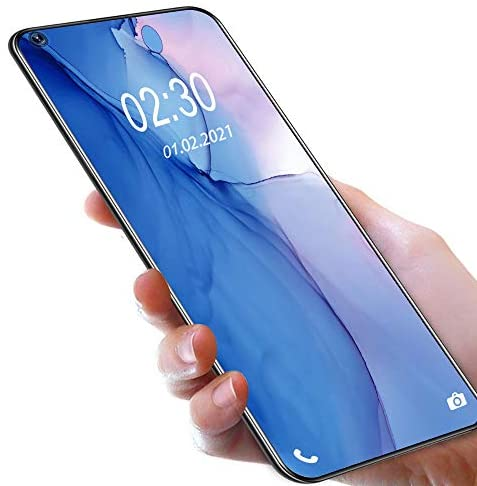Mobile Phones SIM-Free Unlocked,OUKITEL C21 Android 10 6.4 Inches FHD+ Smartphone Dual SIM 4G Helio P60 4GB RAM+64GB ROM,4000mAh Battery Four Rear Cameras 20MP Front Camera Smartphones, Blue
