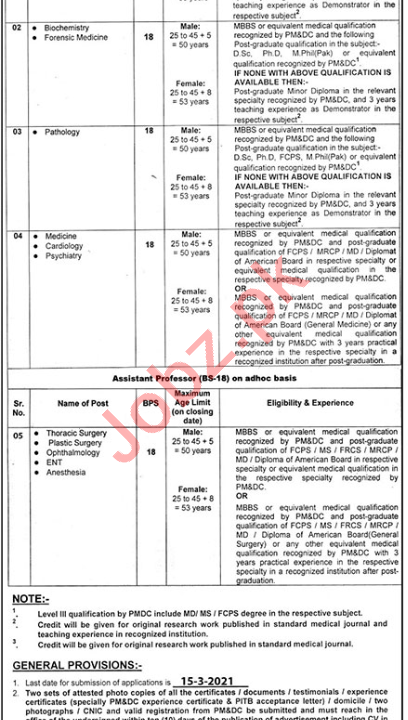 Nishtar Medical University NMU Multan Faculty Jobs 2021