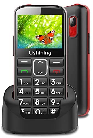 3G Big Button Mobile Phone Unlocked,Easy to Use Dual Sim Basic Mobile Phones for Elderly (Black)