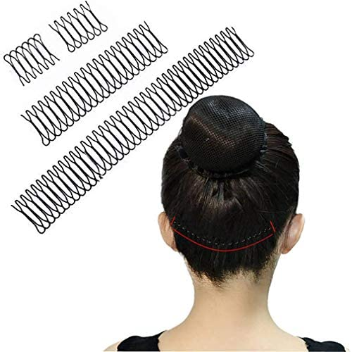 5 Pcs U Shape Hair Finishing Fixer Comb- Professional Hair Pins Grips for Women Girls Hairdressing Styling Salon Tool,Stretchable Hair Accessory Comb Clips for Thick Wavy Kinky Naturally Curly Hair