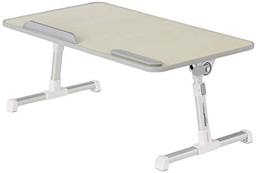 Amazon Basics Adjustable and Portable Laptop Table – Large