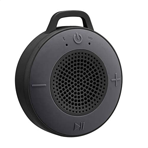Amazon Basics Wireless Shower Speaker with 5W Driver, Suction Cup, Built-in Mic – Black