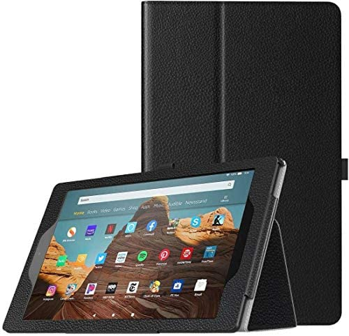 BNBUKLTD® Compatible for Amazon Fire HD 10 (2017) Case Leather Folio Stand Tablet Cover