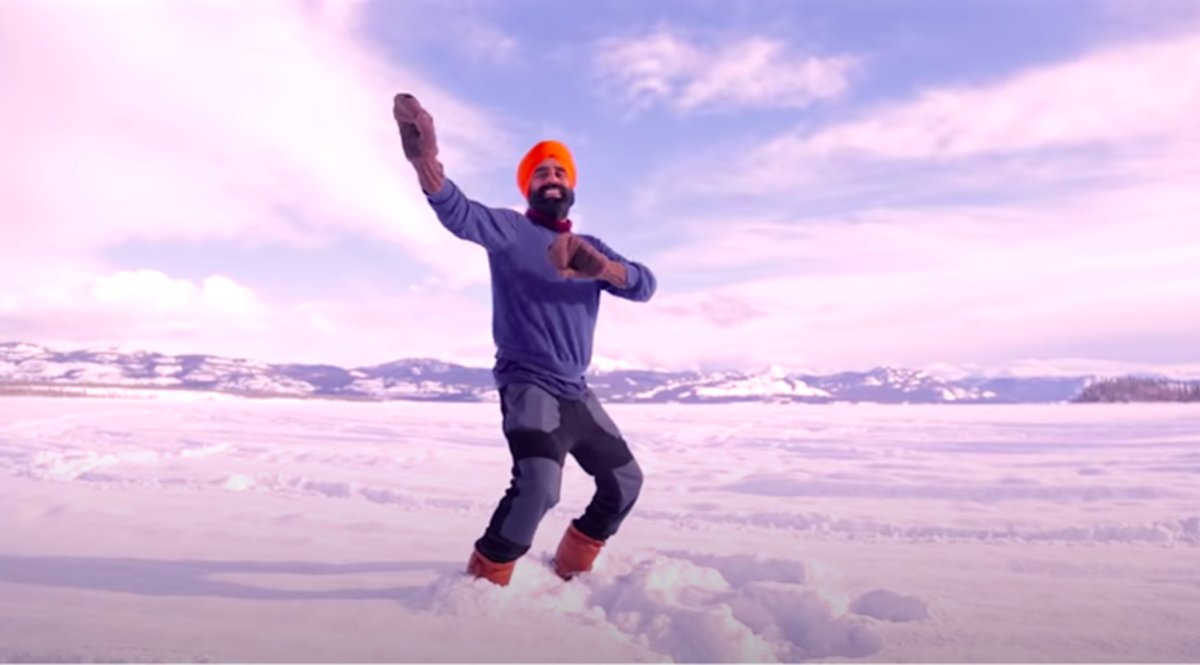 Bhangra-dancing Canadian goes viral after celebrating on frozen lake after Covid vaccine