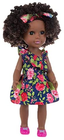Black Girl Dolls with Afro Hair, African American Play Dolls for Children Black Dolls, Lifelike 14inch Simulation Fashion Baby Play Toys, Best Birthday Xmas Gift for Kids Boys Girls Toddlers