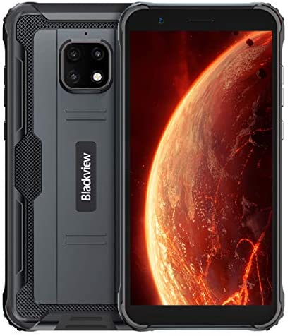 Blackview BV4900 Rugged Smartphone, 4G LTE Dual SIM IP68 Waterproof Unlocked Mobile Phones 5580mAh Battery, Android 10 Global Version, 5.7 inches 3GB 32GB Triple Camera Face/Fingerprint ID GPS