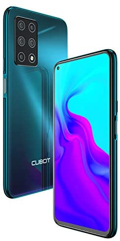 CUBOT X30 Sim Free Smartphone (8GB+256GB) with 6.4-Inch FHD+ Display,Five Al Cameras, Android 10, 4200mAh Battery, 4G Dual SIM; UK Version, SIM Free Mobile Phone-Gradient Green (256GB, Gradient)