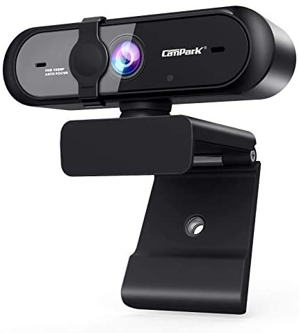 Campark Webcam for PC, 1080P Autofocus USB Webcam with Microphone Streaming Computer Camera for Mac PC Laptop Video Calling Skype Conferencing Gaming Live with Privacy Shutter