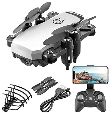 DEAR-JY Mini Drones,4K HD Camera Portable Foldable Quadcopter Drone,One-Key Return Wifi FPV RC Drones Helicopter,2.4Ghz Remote Control Drone for Kid Adult Outdoor Activity Gift