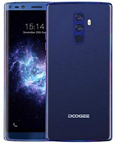 "DOOGEE Mix 2 Mobile Phone Unlocked, Helio P25 2.5GHz Octa Core 6GB + 64GB, 5.99"" (1080 * 2160) FHD+ DUAL SIM Free Mobile Phone 4G, 16MP+13MP+8MP+8MP, 4060mAh Battery Fast Charge, TYPE-C GPS Blue"