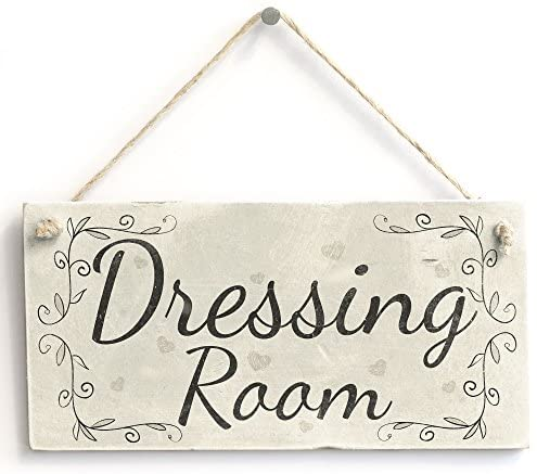 Dressing Room – Handmade Country Style Wooden Home Decor Door Sign/Plaque