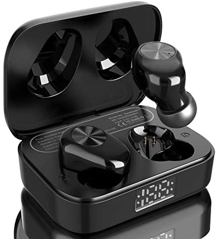 Eono by amazon wireless earbuds, Eonobuds 1 wireless bluetooth earphones with Clear Sound, IPX7 Waterproof, USB C charging, Bluetooth Headphones in Ear for Work, Home Office(black)