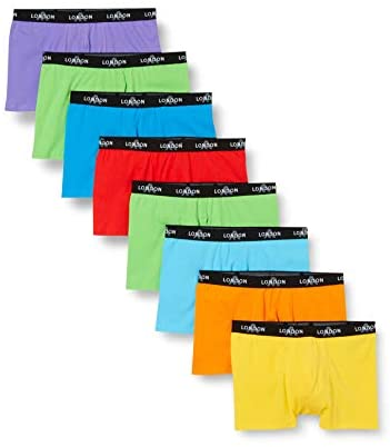FM London Men's Fitted Boxer Hipsters 8-Pack