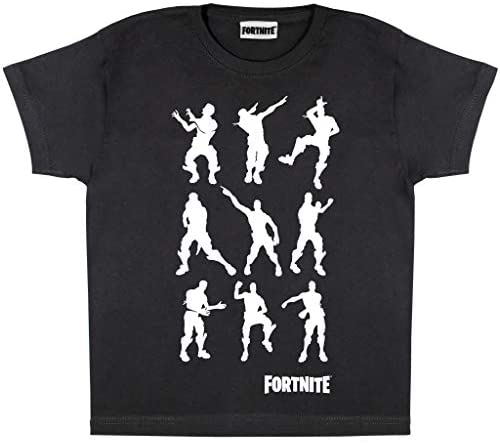Fortnite Dancing Emotes Boys T-Shirt | Official Merchandise | PS4 PS5 Xbox PC Gamer Gifts, Tween Teen School Boys Gaming Top, Childrens Clothes, Kids Birthday Gift Idea