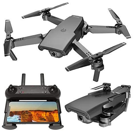 GPS Drone 4K with FPV Camera Live Video,Foldable Drone for Adults,RC Quadcopter for Beginners,with Auto Return Home, Follow Me,Dual Cameras,Long Control Range