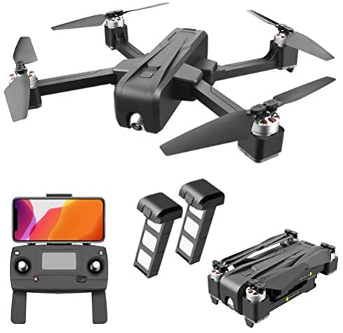GPS Quadcopter 5G FPV Transmission, Drone with 4K HD Camera for Adults, Drones with 35Mins Flight Time, Brushless Motor with True 2D ESC PTZ, 1 Extra Battery+Storage Box