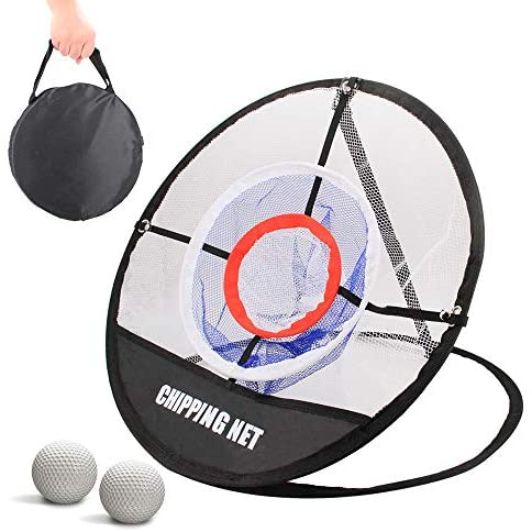 Golf Chipping Net,Pop Up Golf Net Touch Practice Golfing Net for Outdoor Indoor Backyard.Collapsible Portable Golf Net,Golfing Target Accessories Training Aids with 2 Golf Balls,Golf Gifts for Men