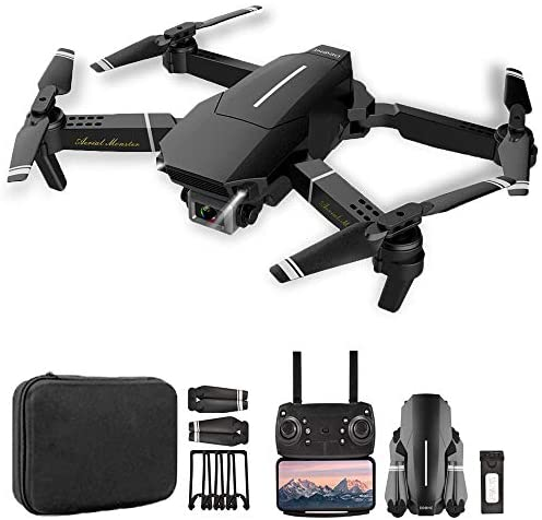 Goolsky RC Drone with Camera 4K Drone Dual Camera RC Quadcopter WiFi FPV Drone Headless Mode Altitude Hold Gesture Photo Track Flight 3D Filp Folding Drone