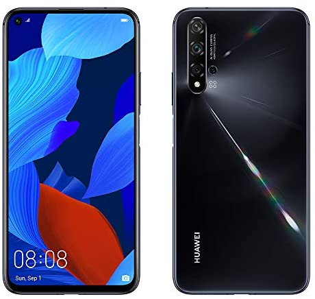 "Huawei Nova 5T 128GB 6.26"" LCD Display Smartphone with 48 MP Camera, 6GB RAM, SIM-Free Android 9.0, EMUI 9.1, Single Sim, (Black) UK Version"