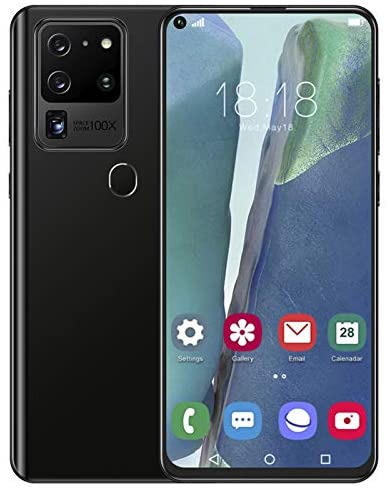 Hyuduo1 S21Ultra 7.2-inch Unlocked Smartphone, with 128G Card, 19:9 HD Full-fit Real Perforated Screen, Face Unlock/Fingerprint Unlock Cell Phones, for Android 10.0, Dual SIM Dual Camera, MTK6889(UK)