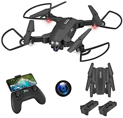 Jettime SR926 WiFi 720P HD FPV Drone for Kids, Live Video Follow Me, Gesture Control and More Than 12 Functions Intelligent Quadcopter for Beginners