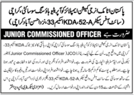 Junior Commissioned Officer Job 2021 in Karachi