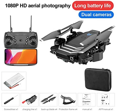 LS11 FPV RC Drone with 1080P HD Camera Live Video 120° Wide-Angle WiFi Quadcopter with Altitude Hold Headless Mode 3D Flips RTF with Modular Battery, Foldable Arms, 3-level flight speed