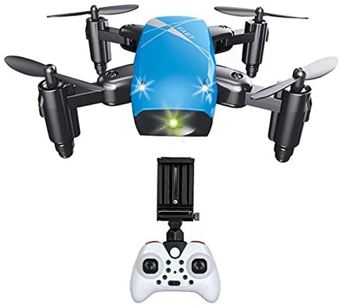 MagiDeal Drone Foldable Quadcopter For Kids Beginners - Blue with Camera, 6x5x3.5cm