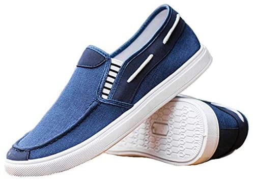 Mens Spring Autumn Breathable Canvas Trainers Flat Canvas Trainers Shoes