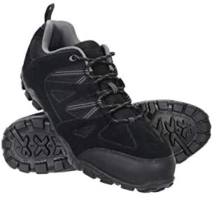 Mountain Warehouse Outdoor Men's Walking Shoes - Suede, Mesh Upper & Lining with 100% Rubber Sole, Cushioned Footbed - Great for Layering