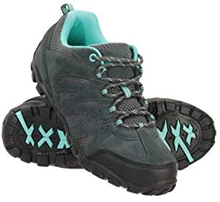 Mountain Warehouse Outdoor Womens Hiking Shoes – Suede & Mesh Upper, Mesh Lined Trainers – for Walking