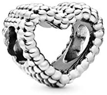 Pandora Women's Moments Open Metal Beads Heart Charm Sterling Silver 797516