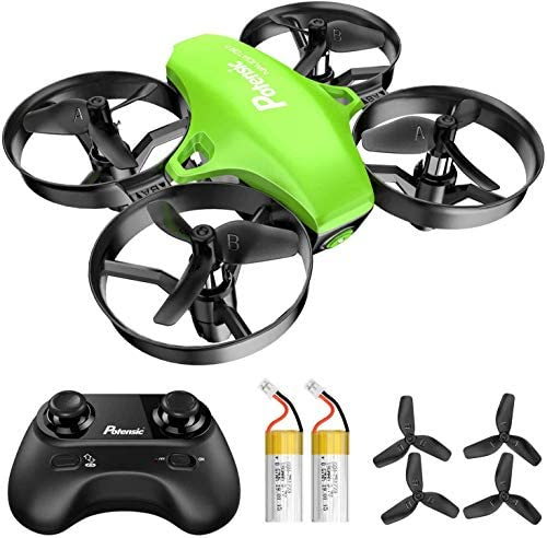 Potensic A20 Mini Drone for Kids, Remote Control Quadcopter with, Auto Hovering, Headless Mode, Easy to Fly, Toys for kids, Green