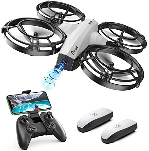 Potensic Mini Drone With Camera For Kids, FPV 2.4G WiFi, Upgraded Propeller Guard, 3D Flip, Combat Mode, Induction Of Gravity, Altitude Hold, Headless Mode, One Key Take-Off/Landing, Toy Gift, White