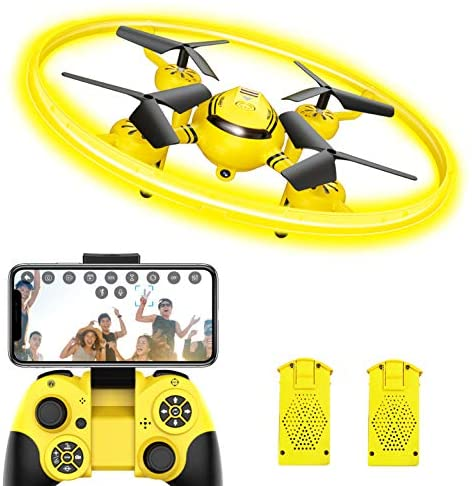 Q8 FPV Drone with Camera for Kids Adults,RC Helicopter with LED Light and Altitude Hold,Quadcopter with Gravity Control and Headless Mode,Kids Toys for Boys Girls