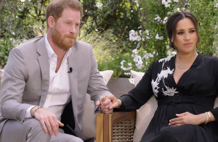 Queen speaks of 'selfless dedication to duty' hours before Meghan and Harry interview – follow live