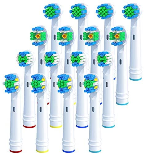 REDTRON Replacement Brush Heads for Oral B, 16Pcs Toothbrush Heads Compatible with Oral B, Works with Floss, Sensitive, Precision, Whitening