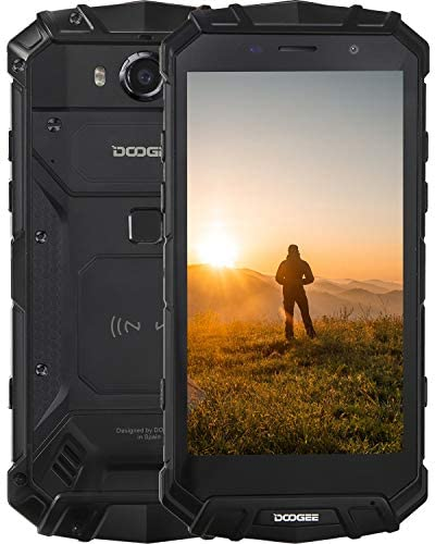 Rugged Smartphone, DOOGEE S60 Rugged Mobile Phone, 6GB + 64GB, Triple Card Slots, 21MP + 8MP Cameras, 5580mAh, 5.2 inches, IP68 WaterProof, 4G Dual SIM, Wireless Charging/NFC/GPS, UK Version – Black
